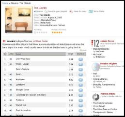 eMusic Album Page - The Glands