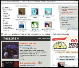 eMusic Main Page